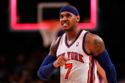 Carmelo Anthony scored 41 points for the New York Knicks