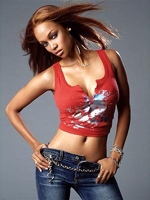 "Tyra Banks, executive producer and judge UPN's ""America's Next Top Model"" 2004"