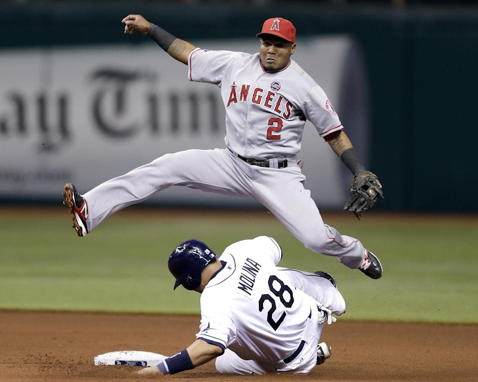 Aybar has 4 RBIs, Angels beat Rays 6-5