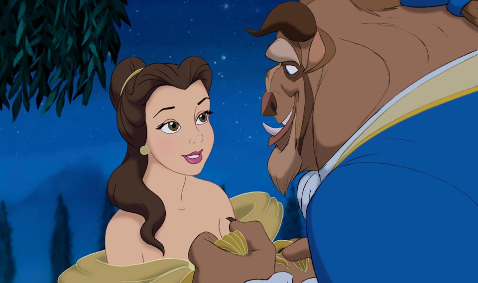 "In this film image released by Disney, Belle and the Beast are shown in a scene from Disney's ""Beauty and the Beast 3-D."" (AP Photo/Disney)"
