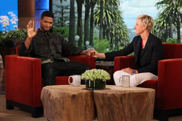 Usher visits 'The Ellen DeGeneres Show,' May 2013 -- Michael Rozman/ Warner Bros