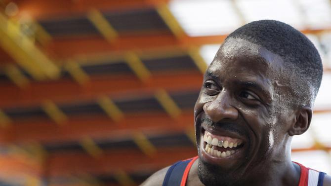 FILE - In this Sunday, June 21, 2009 file photo Britain's Dwain Chambers reacts after winning the 200 meters men race competition at the athletics' European Team Championships in Leiria, Portugal. Britain's lifetime Olympic ban for doping offenders was overturned by sport's highest court Monday April 30, 2012,  clearing the way for sprinter Dwain Chambers and cyclist David Millar to try to qualify for the London Games.(AP Photo/Victor R. Caivano, File)