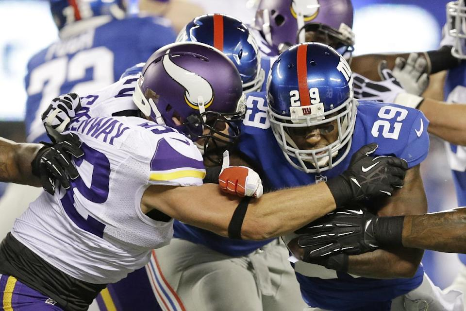 Giants lead Vikings 17-7 after 3 quarters