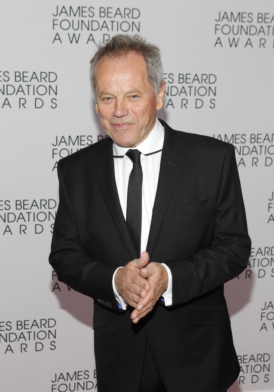 Chef Wolfgang Puck arrives for the James Beard Foundation Awards, Monday, May 7, 2012, in New York. (AP Photo/Jason DeCrow)