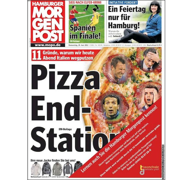 I eat your pizza! I eat it up! (Deadspin.com via Mopo.de)
