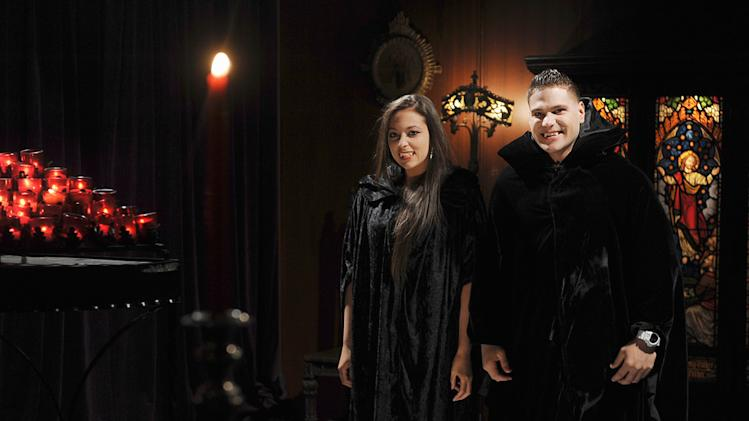 """Jersey Shore"" stars Sammi and Ronnie as Volturi vampires spoof a scene from ""Twilight"" in a special comedy segment on ""Jimmy Kimmel Live's Twilight Saga: Total Eclipse of the Heart."""