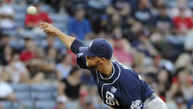 Rookie road king Hahn hurls Padres past Braves 5-2