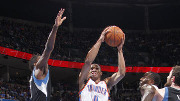 Thunder survive Love's 51, outlast Wolves in 2OT