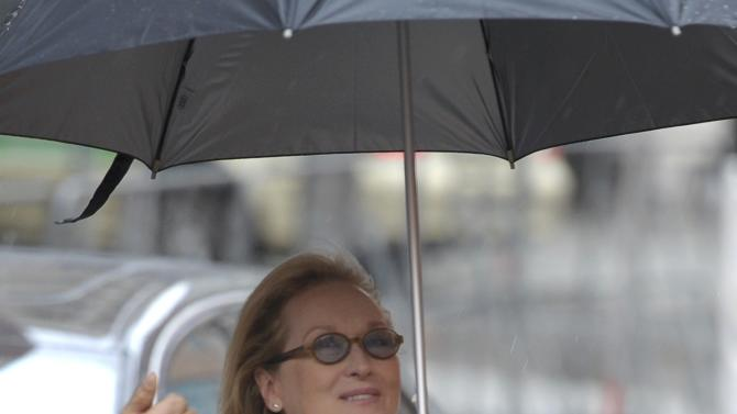 Streep Jury President for the 66th Berlinale International Film Festival arrives for news conference in Berlin