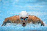 US swimmer Michael Phelps competes in the men's 400m individual medley heats swimming event at the London 2012 Olympic Games
