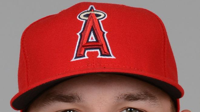 Mike Trout Baseball Headshot Photo