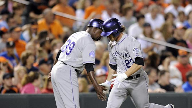 Rockies hit 4 HRs in 6-3 win over Orioles
