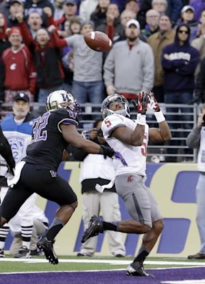 Sankey leads Huskies past Cougs 27-17 in Apple Cup
