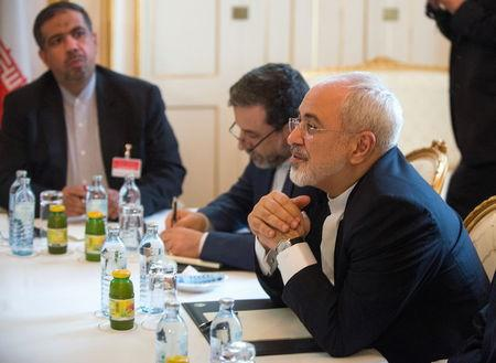 Zarif meets Fabius at a hotel in Vienna