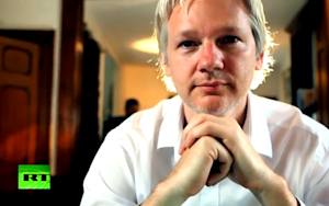 Julian Assange Doesn't Do Much Talking on His New Talk Show