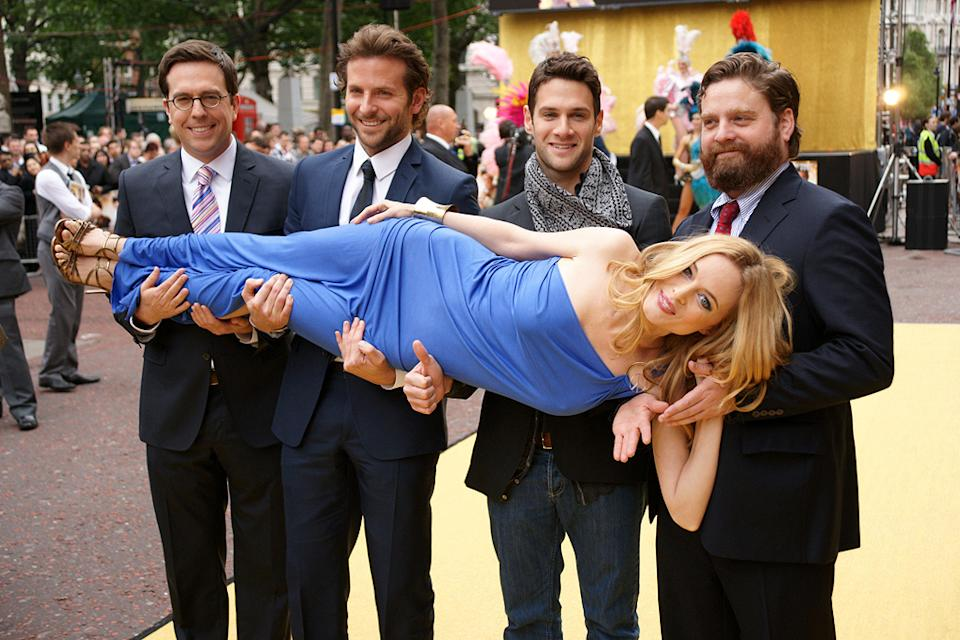 The Hangover UK Premiere 2009 Ed Helms Bradley Cooper Heather Graham Justin Bartha Zach Galigianakis