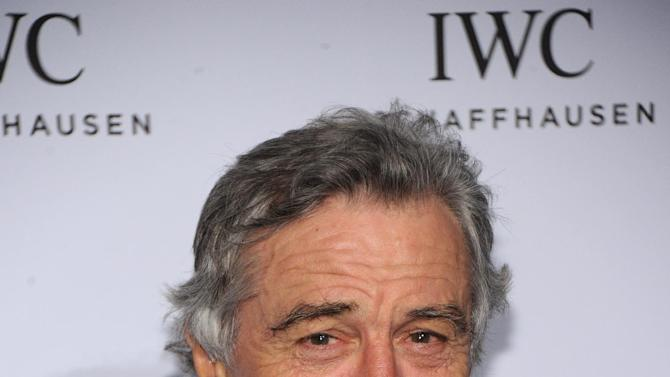 "IMAGE DISTRIBUTED FOR IWC - Actor Robert De Niro attends the IWC and Tribeca Film Festival Celebrate ""For the Love of Cinema"" in New York city on Thursday, April 18, 2013.  (Jamie McCarthy for IWC/Photopress via AP Images)"