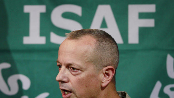 "FILE - In this Wednesday, Sept. 14, 2011 file photo, U.S. Gen. John Allen, then top commander of U.S. and NATO forces in Afghanistan, speaks during a news conference in Kabul, Afghanistan. Allen is under investigation for thousands of alleged ""inappropriate communications"" he had with a Florida socialite also involved in the David Petraeus case. Nearly two dozen generals have commanded troops from the United States and the NATO-led International Security Assistance Force, since the American invasion in late 2001. While some analysts say fresh eyes are important, others wonder if the revolving door command has hurt U.S. continuity with critical Afghan partners. (AP Photo/Musadeq Sadeq, File)"