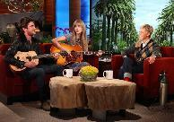 Zac Efron and Taylor Swift appear on 'The Ellen DeGeneres Show' on February 21, 2012 -- Michael Rozman/Warner Bros.