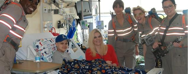 'Ghostbusters' cast visits children's hospital