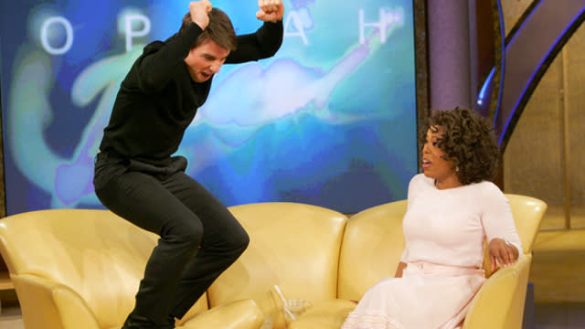 It's Been 10 Years Since Tom Cruise Jumped on Oprah's Couch