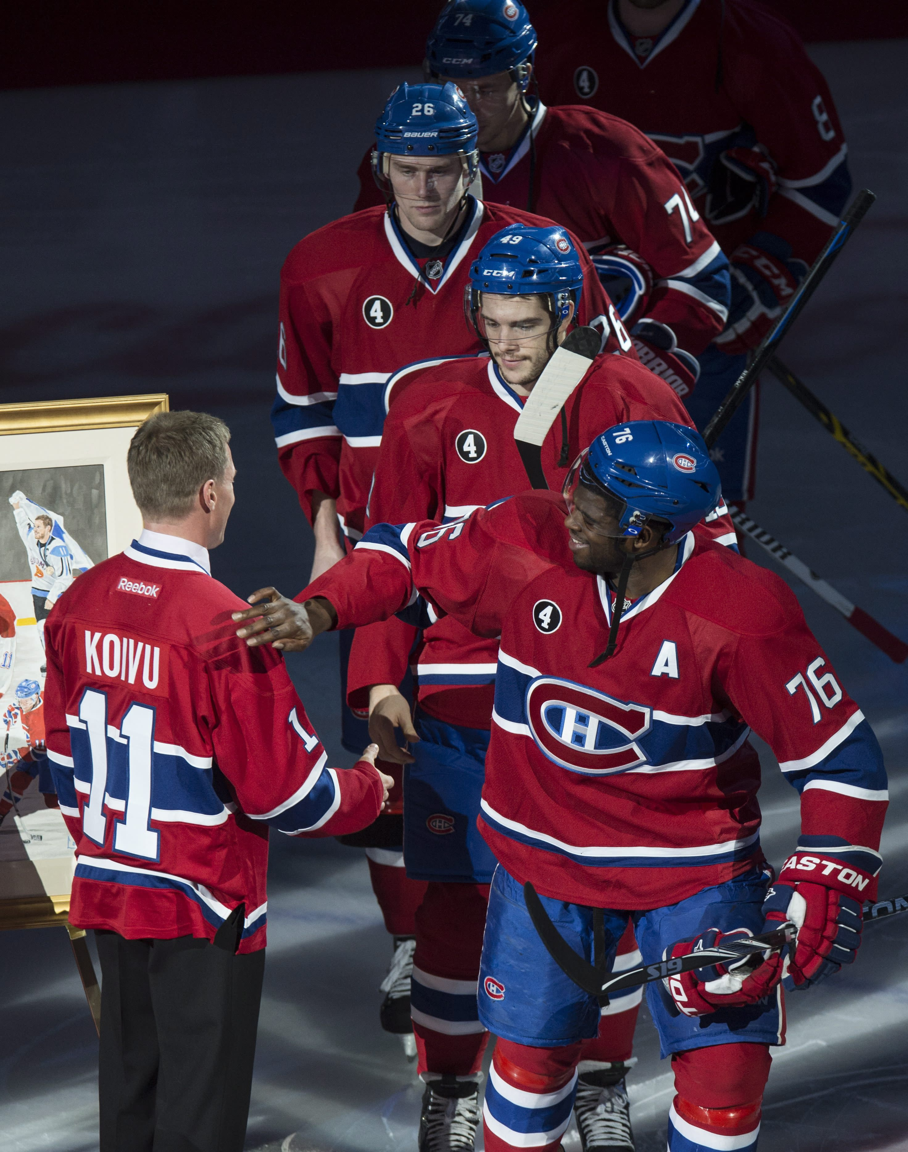 Canadiens honor former captain Koivu