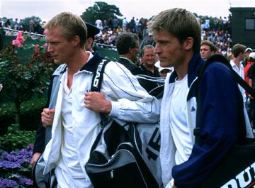 Paul Bettany and Nikolaj Coster-Waldau in Universal Pictures' Wimbledon