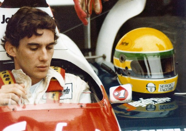 FILE - In this file photo released by Universal Pictures, Ayrton Senna is shown in a scene from the film &quot;Senna.&quot; (AP Photo/Universal Pictures, File)