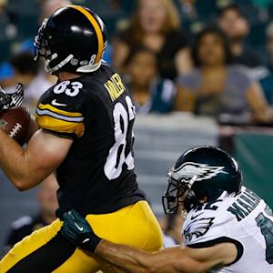 Pittsburgh Steelers tight end Heath Miller 27-yard TD reception