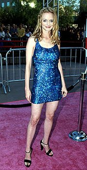 Heather Graham (Felicity Shagwell) looking nothing if not shagadelic at the Los Angeles premiere for Austin Powers: The Spy Who Shagged Me Photo by Jeff Vespa/Wireimage.com
