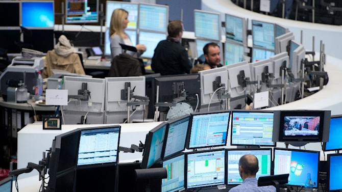 Frankfurt's DAX 30 index edged up 0.04 percent to 11,210.27 points, while in Paris the CAC 40 was down 0.09 percent to 4,882.22 points