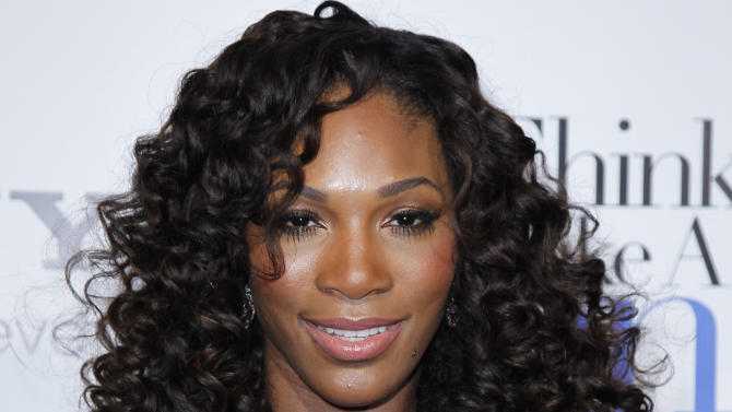 "FILE - In a Feb. 9, 2012 file photo, tennis player Serena Williams poses at The Pan African Film & Arts Festival's opening night premiere of Screen Gems' ""Think Like a Man"" in Los Angeles.   Serena Williams says altering her diet in support of big sister Venus hasn't been much of a hardship.  (AP Photo/Danny Moloshok, file)"