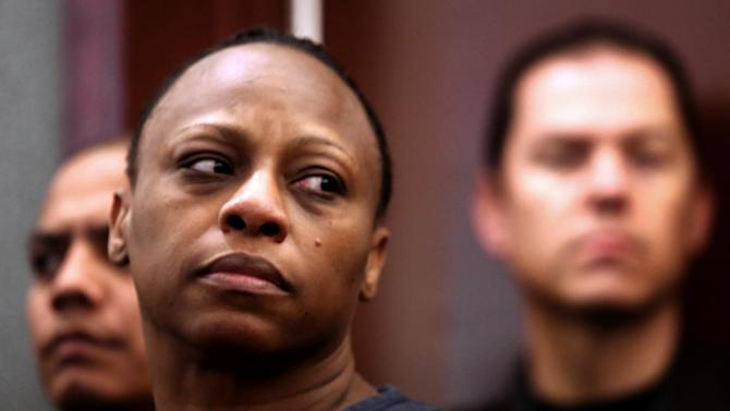 Brenda Stokes Wilson appears in Clark County Justice Court, Friday, Dec. 28, 2012, in Las Vegas. Wilson is accused of slashing a Bellagio blackjack dealer and is suspected of kidnapping and slaying 10-year-old Jade Morris. A judge raised bail for Wilson from $60,000 to $600,000 on Friday in light of expected murder charges to be filed Friday afternoon. (AP Photo/Las Vegas Review-Journal, Jeff Scheid) LOCAL TV OUT; LOCAL INTERNET OUT; LAS VEGAS SUN OUT