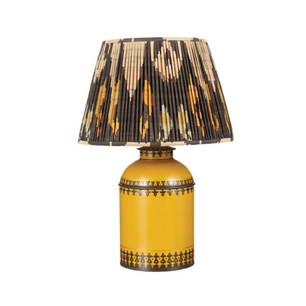 Pleated Sulu Silk Empire Lampshade - 69 - OKA Direct