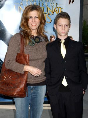 Rita Wilson and son at the Hollywood premiere of Paramount Pictures' Lemony Snicket's A Series of Unfortunate Events