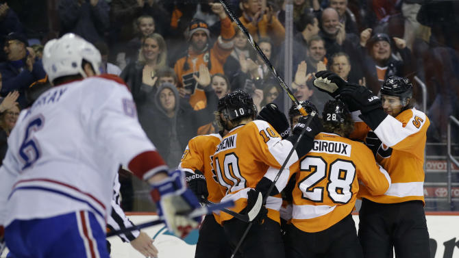 Giroux, Mason lead Flyers over Canadiens