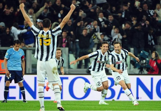Juventus' Forward Alessandro Del Piero (R) Celebrates AFP/Getty Images
