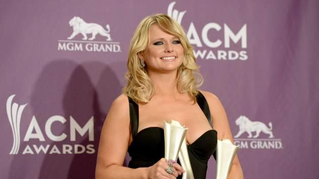 Miranda Lambert, winner of Song of the Year and Single Record of the Year for 'Over You' and Female Vocalist of the Year, poses in the press room during the 48th Annual Academy of Country Music Awards at the MGM Grand Garden Arena on April 7, 2013 in Las Vegas -- Getty Images