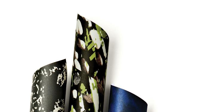 This product image released by One Kings Lane shows a selection of gift wrapping paper by stylist-designer Rachel Zoe. Zoe is among the tastemakers that partnered with the site for the One Kings Lane Holiday Charity Series. (AP Photo/One Kings Lane)