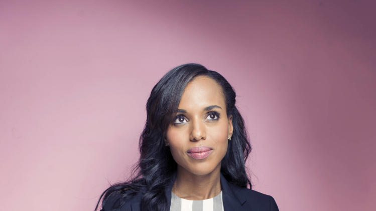 """This Sept. 20, 2012 photo shows American actress Kerry Washington posing for a portrait  in New York.  Washington stars in the series, """"Scandal,"""" airing Thursdays at 10 p.m. EST on ABC. (Photo by Victoria Will/Invision/AP)"""