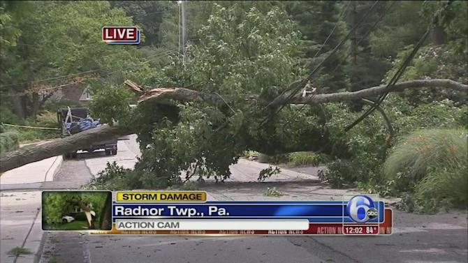 Strong storms knock out power across the region