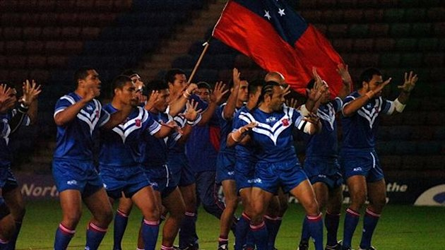 Samoa will warm up for the tournament with a match against the England Knights
