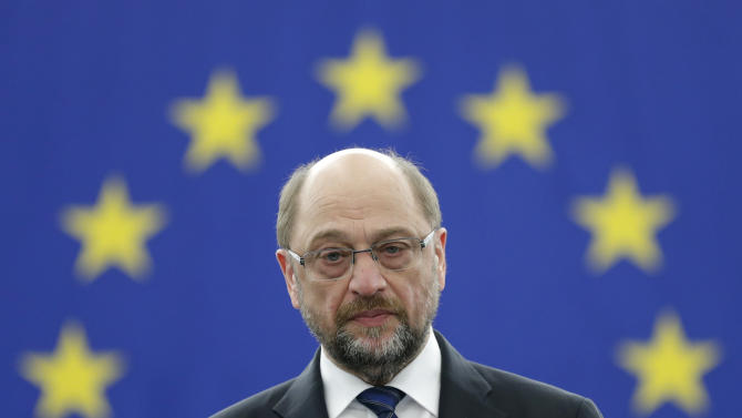 Outgoing President  of the European Parliament President Schulz attends the announcement of the candidates for the election to the office of the President at the European Parliament in Strasbourg