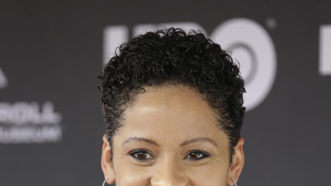 Kori Withers, daughter of Bill Withers, arrives at the Rock and Roll Hall of Fame Induction Ceremony Saturday, April 18, 2015, in Cleveland. (AP Photo/Tony Dejak)
