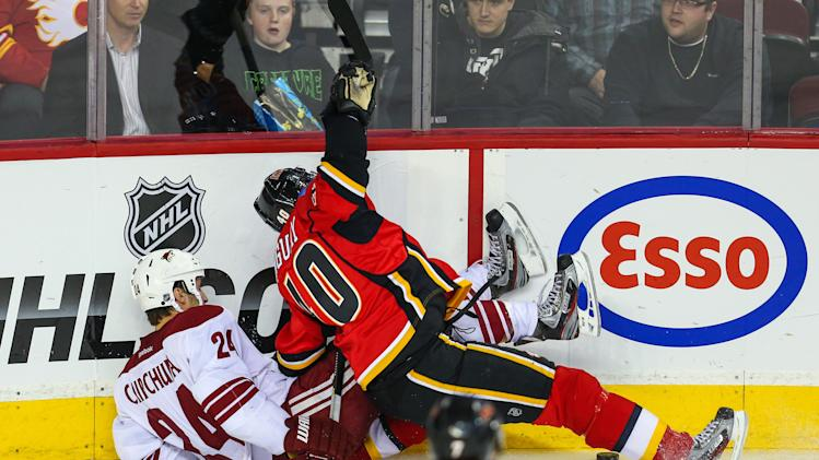 NHL: Phoenix Coyotes at Calgary Flames