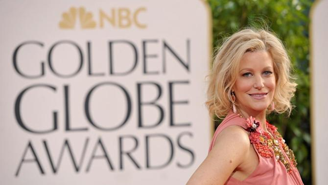 Actress Anna Gunn arrives at the 70th Annual Golden Globe Awards at the Beverly Hilton Hotel on Sunday Jan. 13, 2013, in Beverly Hills, Calif. (Photo by John Shearer/Invision/AP)