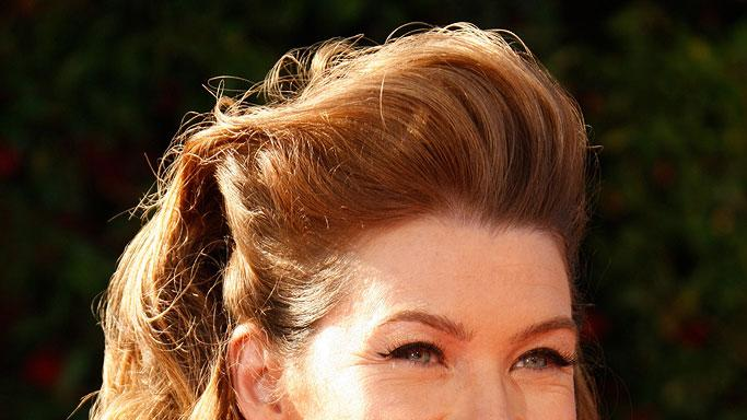 Ellen Pompeo arrives at the 59th Annual Primetime Emmy Awards at the Shrine Auditorium on September 16, 2007 in Los Angeles, California.