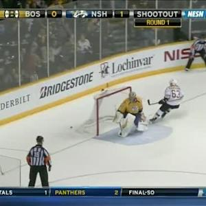 Pekka Rinne Save on Brad Marchand (00:00/SO)
