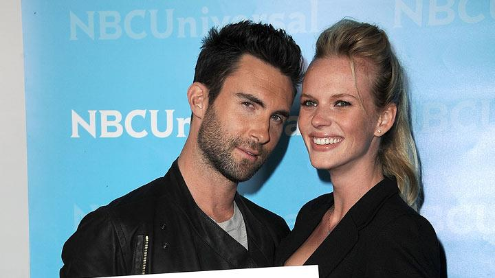"Adam Levine (""The Voice"") and guest attend the 2012 NBC Universal Winter TCA All-Star Party at The Athenaeum on January 6, 2012 in Pasadena, California."