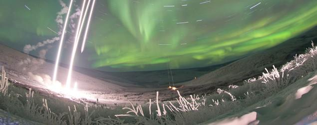 Image captures rockets fired at northern lights